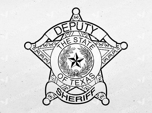 Texas Deputy Sheriff Badge Blank | Vector Image