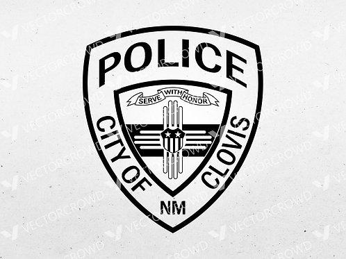 Clovis NM Police Department Logo   Vector Image