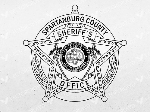 Spartanburg County SC Sheriff's Department Badge | Vector Images | VectorCrowd