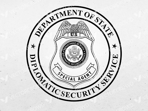 Diplomatic Security Service Seal | SVG Cut File