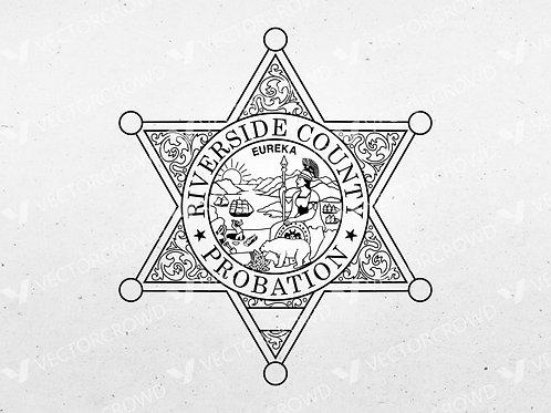 Riverside County California Probations Badge | Vector Image