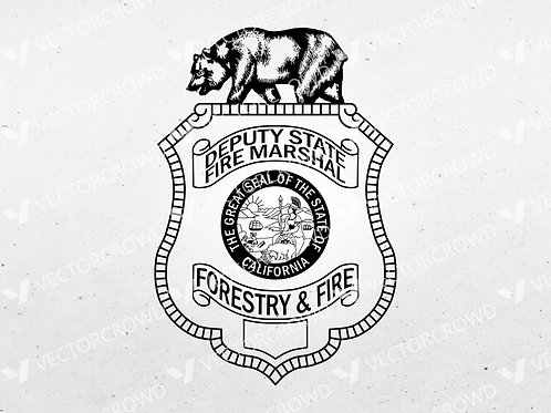 California Deputy State Fire Marshal Logo | VectorCrowd