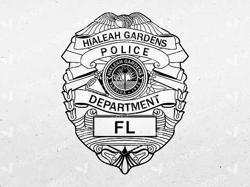 Hialeah Gardens Florida Police Department Badge | Vector Images | VectorCrowd
