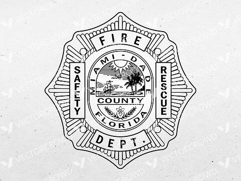 Miami Dade County Fire Rescue Emblem | Vector Image | VectorCrowd