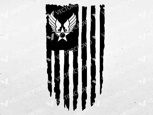 US Army Air Corps Hap Arnold Wings American Flag  | SVG Cut File