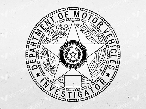Texas DPS Investigator Badge | Vector Images | VectorCrowd