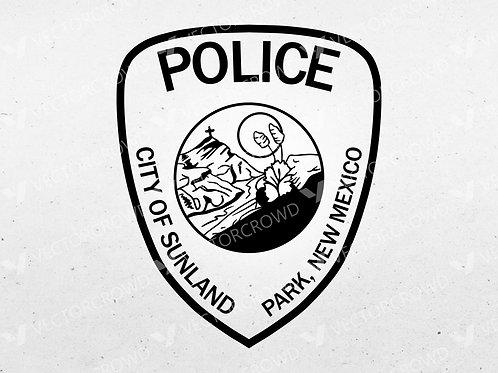 Sunland Park NM Police Department Logo | SVG Cut File