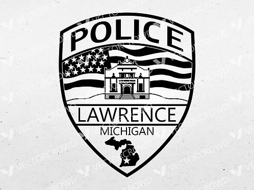 Lawrence Michigan Police Department Patch | Vector Image