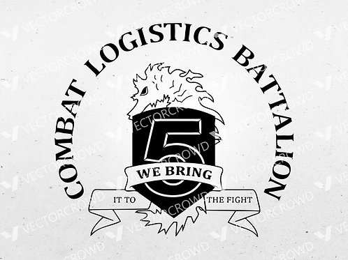 Combat Logistics Battalion 5 USMC | SVG Cut File
