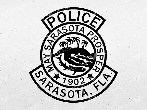 Sarasota Florida Police Department Logo | SVG Cut File | VectorCrowd