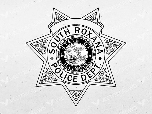 South Roxana Illinois Police Department Badge | Vector Image
