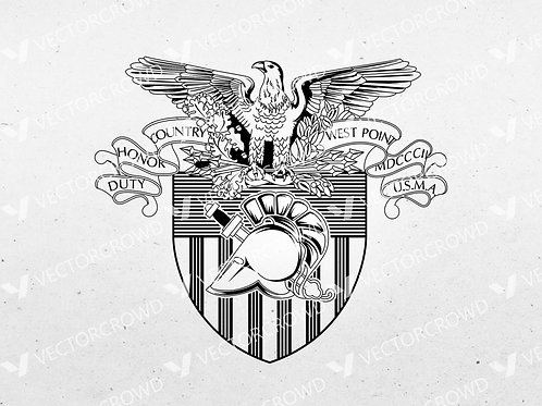 United States Military Academy West Point Coat of Arms | SVG Cut