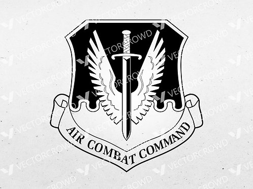 U.S. Air Force Air Combat Command Insignia | SVG Cut