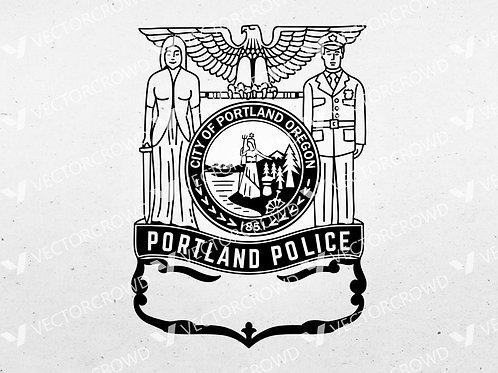 Portland Oregon Police Department Logo | Vector Images | VectorCrowd