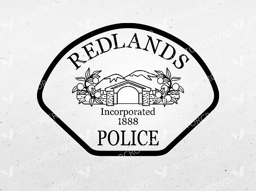 Redlands California Police Department Patch | Vector Image