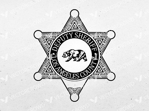 Los Angeles County CA Deputy Sheriff's Badge | Vector Image
