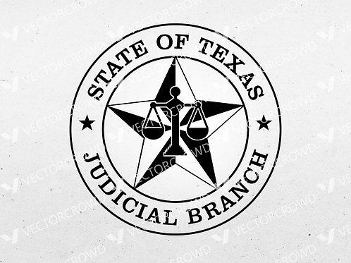 State of Texas Judicial Branch Seal   SVG Cut File