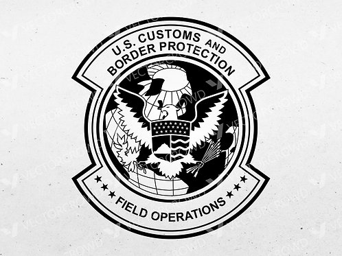 US Customs Border Protection Office of Field Operations Badge | SVG Cut File