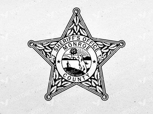 Monroe County Florida Sheriff's Office Badge | Vector Image