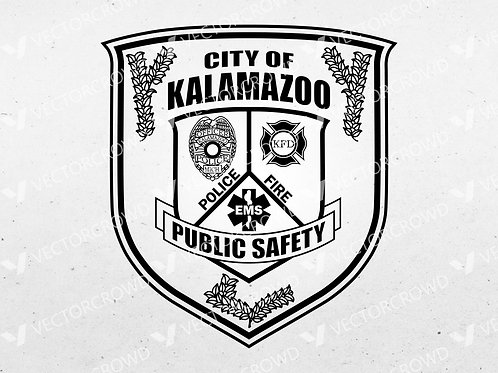 City of Kalamazoo Michigan Public Safety Patch | VectorCrowd