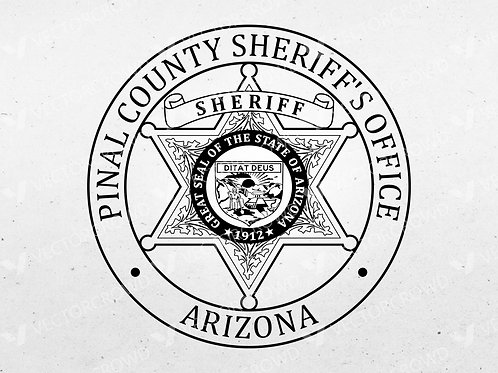 Pinal County Arizona Sheriff Department Badge | SVG Cut File