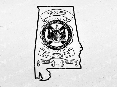 Alabama State Police Trooper Patch| Vector Image