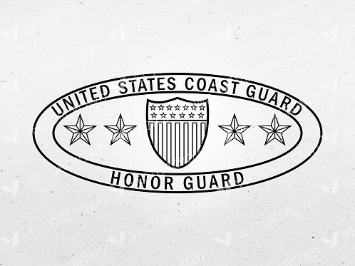 USCG Honor Guard Badge | Vector Images | VectorCrowd