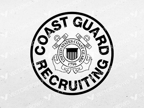 Coast Guard Recruiting Seal | SVG Cut File