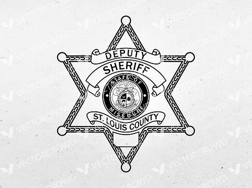 St Louis County MO Sheriff Department Deputy Badge   SVG Vector Image