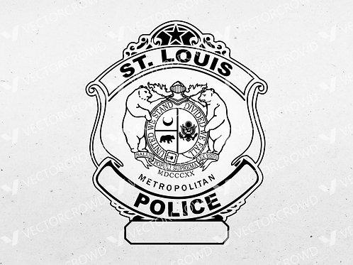 St Louis Missouri Police Department Badge   SVG Vector Image