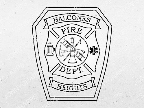Balcones Heights Texas Fire Department Logo   VectorCrowd