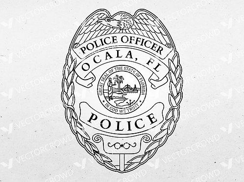 Ocala Florida Police Officer Badge | SVG Cut File