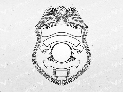 Blank Police Sheriff's Badge Version 7 | VectorCrowd