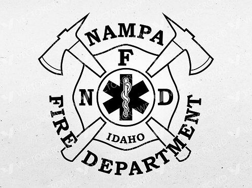 Nampa Idaho Fire Department Logo | VectorCrowd