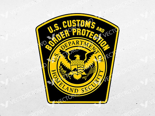 US Customs and Border Protection Logo | SVG Cut File