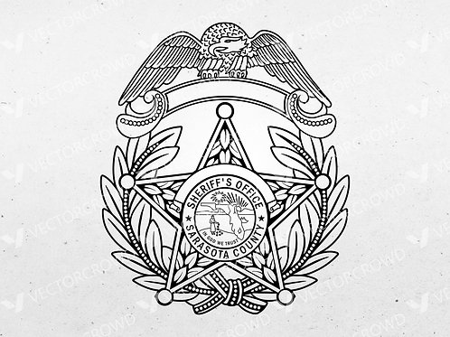 Sarasota County Florida Sheriff's Department Badge ver1 | Vector Image