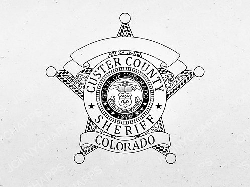 Custer County Colorado Sheriff's Department Badge | Vector Image