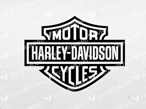 Harley Davidson Motorcycle Badge Logo    SVG Cut
