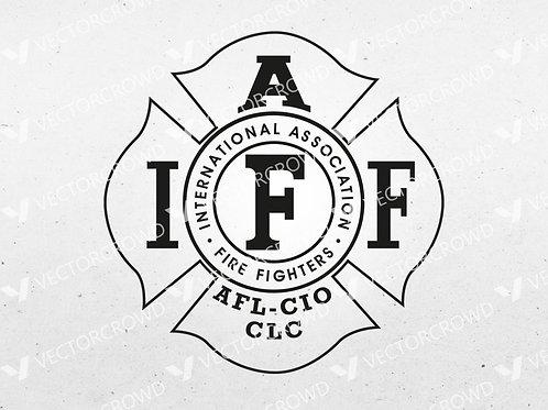 International Association of Firefighters Logo | SVG Cut File