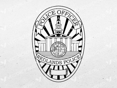 Redlands California Police Department Badge | Vector Images | VectorCrowd