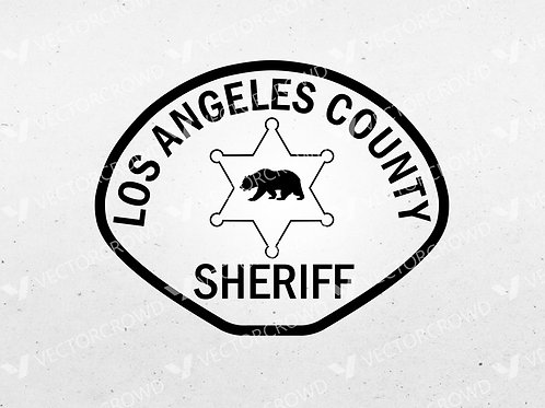 Los Angeles County CA Sheriff's Department Patch | Vector Image