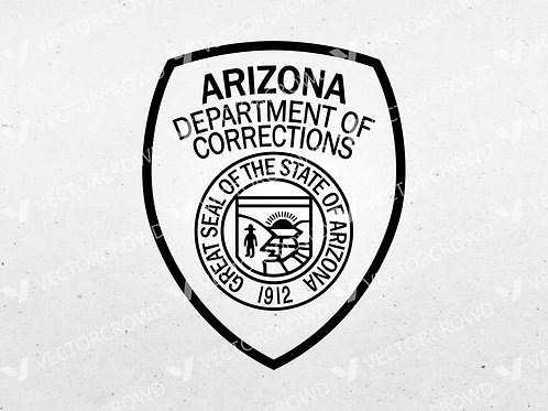 Arizona Department of Corrections Badge   Vector Image