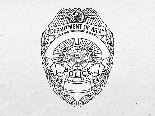 Department of Army Police Badge | VectorCrowd