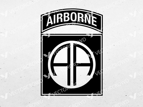82nd Airborne Division Army Infantry Logo | SVG Cut File
