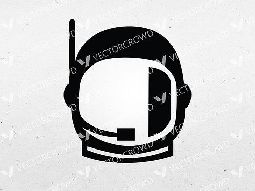 Simple Astronaut Spaceman Helmet Silhouette | SVG Cut File
