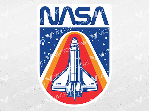 NASA Space Shuttle Graphic | SVG Cut File