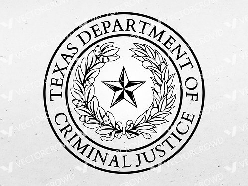 Texas Department of Criminal Justice Seal   Vector Image   VectorCrowd