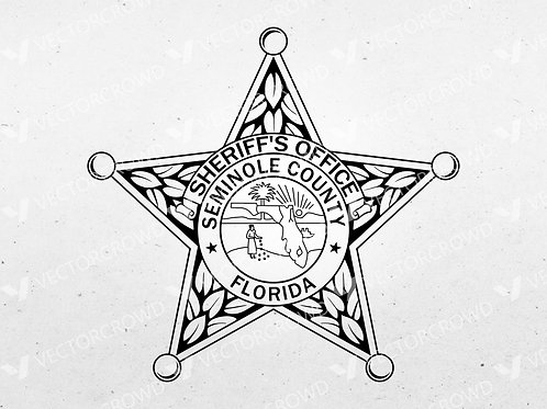 Seminole County Florida Sheriff's Department Badge | Vector Image