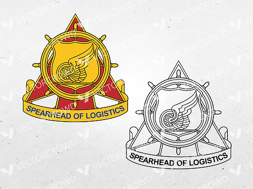 US Army Transportation Corps Spearhead of Logistics Badge | SVG Cut File