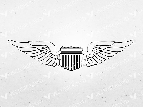 Air Force Pilot Wings Insignia | SVG Cut File
